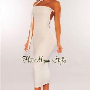 Hot Miami Style White Dress